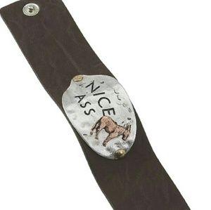 Handmade Leather Snap Cuff Bracelet